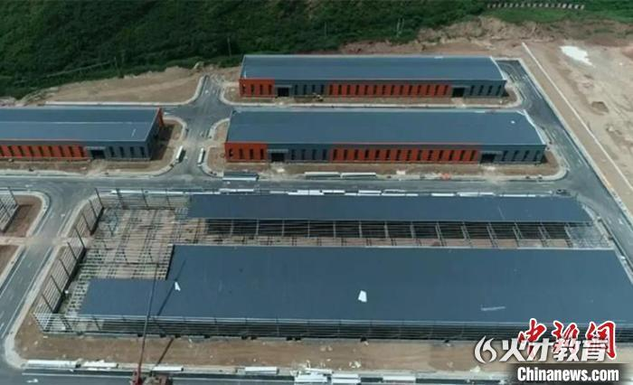 山西吉县产业集聚区初具规模。吉县融媒体中心供图